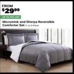 groupon deals on Micromink & Sherpa Reversible 2-pc. Comforter Set