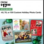 Deals on 40, 70 or 100 Custom Holiday Photo Cards