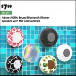Deals on Aduro Aqua Sound Bluetooth Shower Speaker w/Mic & Controls