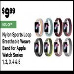 Deals on Nylon Sports Loop Breathable Weave Band for Apple Watch