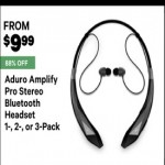 Deals on Aduro Amplify Pro Stereo Bluetooth Headset