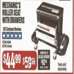 Pittsburgh Automotive Mechanics Roller Seat with Drawers Deals