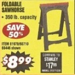 Central Machinery Foldable Sawhorse Deals