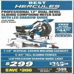 Hercules Professional 12-in. Double-Bevel Sliding Compound Miter Saw Deals