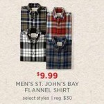 St. Johns Bay Mens Flannel Shirt Deals