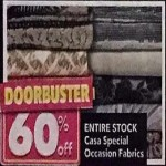 60% Off Casa Special Occasion Fabrics Deals