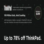 Up to 78% Off on Lenovo ThinkPad Laptops Deals