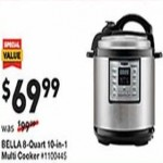 lowes deals on Bella 8-qt. Programmable Electric Pressure Cooker