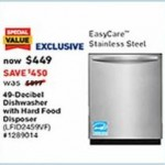 lowes deals on Frigidaire 49-Decibel Hard Food Disposer Built-In Dishwasher