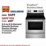 lowes deals on Frigidaire Smooth Surface 5 Elements 5.3-cu. ft. Cleaning Freestanding