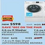 lowes deals on GE 4.5-cu. ft. Stackable Front-Load Washer