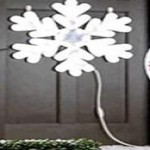lowes deals on GE 28-in Hanging Snowflake with White LED Lights