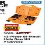 lowes deals on Spyder Set Bi-Metal Arbored Hole Saw Set