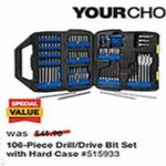 lowes deals on Kobalt 106-pc. Screwdriver Bit Set