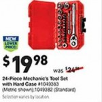 lowes deals on Craftsman 24-Piece Mechanics Tool Set with Hard Case