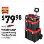 lowes deals on Craftsman Versastack System Rolling Tool Box Tower