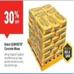Deals on 30% Off Select Quikrete Concrete Mixes