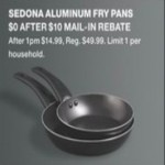 macys deals on Sedona Aluminum Fry Pans for FREE (After Rebate)