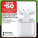 meijer deals on Apple AirPods Gen 2 with Charging Case + $50 Coupon