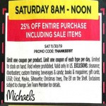 michaels deals on Express Coupon: Extra 25% Off Sitewide