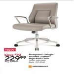officedepot deals on Realspace Modern Comfort Delagio Bonded Leather Managerial Mid-Back Chair
