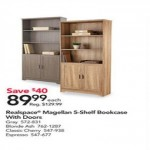 officedepot deals on Realspace Magellan 72-in. 5-Shelf Bookcase w/Doors