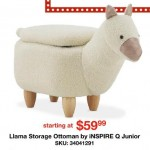 overstock deals on Inspire Q Junior Llama Storage Ottoman