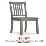 overstock deals on Inspire Q Wilmington Wood Dining Chairs (2-pk.)