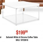 overstock deals on Safavieh White & Chrome Coffee Table