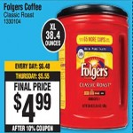Deals on Folgers Classic Roast Coffee
