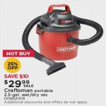 Deals on Craftsman Portable 2.5-gal. Wet/Dry Vacuum