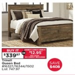 searsoutlet deals on Ashley Trinell Queen Bed