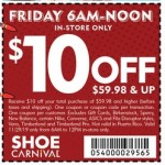 Deals on Shoe Carnival Coupon: $10 Off $59.98+ Order
