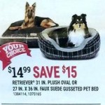 Retriever Gusseted Suede Bed Or 31-in. Flannel Plush Pet Bed Deals