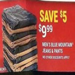 Deals on Mens Blue Mountain Jeans & Pants