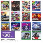 walmart deals on Video Games on Sale $30 Each